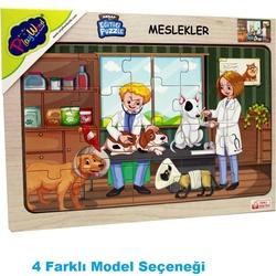 PlayWood-Onyıl - PlayWood Eğitici Ahşap Puzzle Meslekler 20 Parça