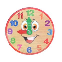 PlayWood-Onyıl - Playwood Fiba Ahşap Eğitici Renkli Saat