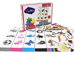 PlayWood - PlayWood Okul Öncesi Eğitici Ahşap Puzzle Renkler 60 Parça