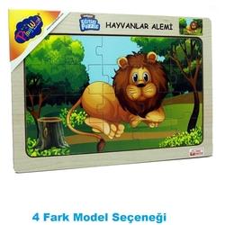 PlayWood - PlayWood Puzzle Sevimli Orman Hayvanları 20 Parça Ahşap Eğitici Yapboz 4 Model