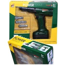 Miajima-67677 - Power Tools Usta Tamirciler Oyuncak Pilli Matkap Seti