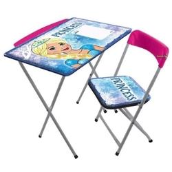 Furkan Toys - Prenses Çocuk Ders Çalışma Masası Kalemlikli Masa Sandalye Seti