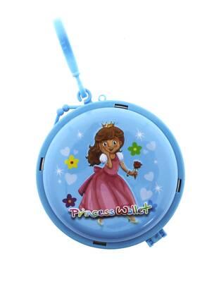 Prenses Mavi Metal Cüzdan