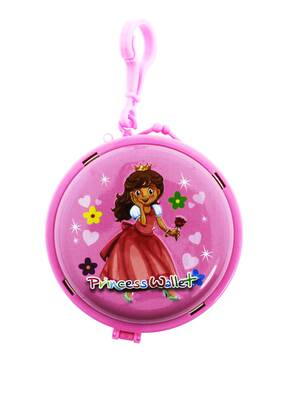 Prenses Pembe Metal Cüzdan