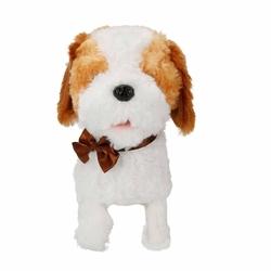 Puffy Friends Sevimli Kumandalı Yürüyen Sesli Oyuncak Köpek Latte - Thumbnail