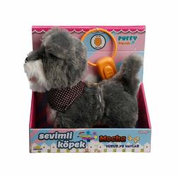 Sunman - Puffy Friends Sevimli Kumandalı Yürüyen Sesli Oyuncak Köpek Mocha