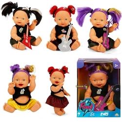 Sunman - Punk Gülen Yüzlü Nil Topuz Saçlı Oyuncak Et Bebek 25 Cm