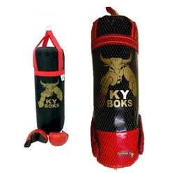 Rising Sports Ky Büyük Boy Boks Kum Torbası ve Eldiveni Seti 60 Cm - Thumbnail