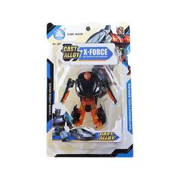 MEGA - Robota Dönüşen Porche Benzeri Siyah/Turuncu Araba