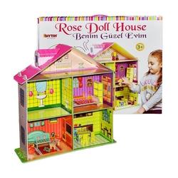 Dıy Toy - Rose Doll House Benim Güzel Oyuncak Oyun Evim Aksesuarlı
