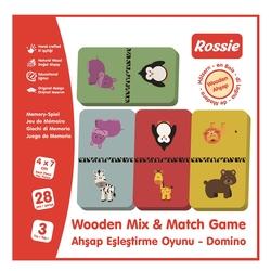 ROSSIE - Rossie Ahşap Eşleştirme Oyunu-Domino Game