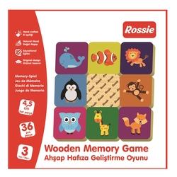 ROSSIE - Rossie Ahşap Hafıza Geliştirme Oyunu-Memory Game