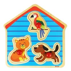 ROSSIE - Rossie Ahşap İlk Yapbozum-Evcil Hayvanlar