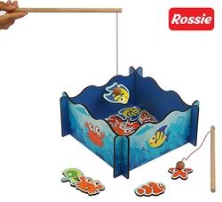 ROSSIE - Rossie Ahşap Mıknatıslı Balık Tutma Oyunu