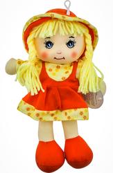 MEGA - Şapkalı Bez Bebek Portakal Kız F31810