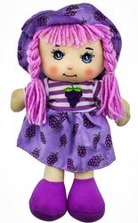 MEGA - Şapkalı Bez Bebek Üzüm Kız F31810