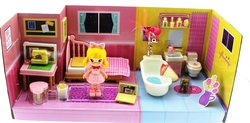 MEGA - Sarı Saçlı Maylla Mini Yatak Odası ve Banyo Oyun Seti