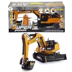 Gepet Toys - Şarjlı Uzaktan Kumandalı Full Foksiyonlu Büyük Excavator İş Makinesi Dozer Kepçe 1:20