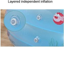 Şeffaf Balık Desenli Oval Derin Havuz Boyun Simidi Pompa Hediye 140 X 100 X 70 Cm - Thumbnail