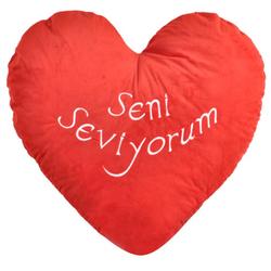 Selay - Selay Hediyelik Sevgiliye Kalp Yastık 70 CM