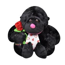Selay - Selay Oyuncak Çiçekli Peluş Goril 28 Cm