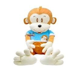 Selay - Selay Oyuncak Elbiseli Peluş Maymun Cuci 105 Cm Büyük Boy