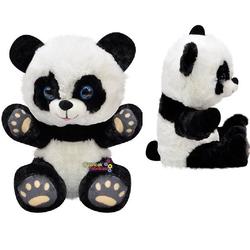 Selay - Selay Oyuncak Oturan Patikleri Gözüken Peluş Panda Ayı 28 Cm