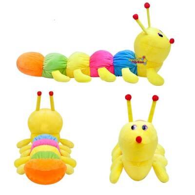 Selay Oyuncak Peluş Renkli Tırtıl 50 cm