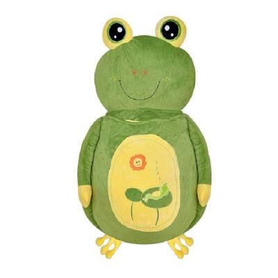 Selay Peluş Kurbağa Minder Yatak 150 Cm Büyük Boy