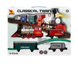 Sunman - Sesli ve Işıklı Klasik Oyuncak Tren Seti 16 Parça 412 Cm