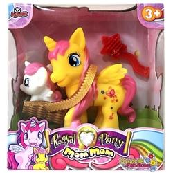 Vardem Oyuncak - Sevimli Oyuncak Pony At ve Sepette Yavrusu 13 Cm
