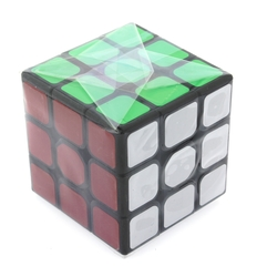 MEGA - Siyah Zemin Üzeri Renkli Zeka Küpü 3X3