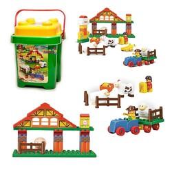 SLUBAN - Sluban Happy Farm Kovalı Blok Bultak Mutlu Çiftlik Oyun Seti 55 Parça M38-B6005