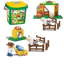 SLUBAN - Sluban Kovalı Bultak Bloklar Mutlu Çiftlik Seti 40 Parça M38-B6002