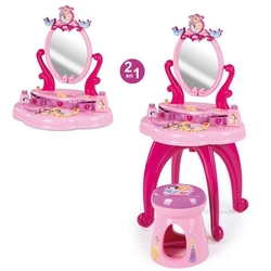 Smoby - Smoby Disney Prenses Tabureli Oyuncak Makyaj Ve Güzellik Seti