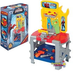 Dede toys - Spiderman Örümcek Adam Oyuncak Tezgahlı Tamir Seti 33 Parça