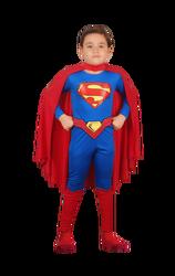 SUPERMAN - Süperman Basic Kostüm (7-9)