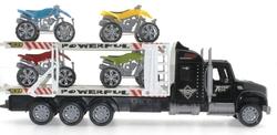 MEGA - Oyuncak Sürtmeli ATV Taşıyan Siyah Tır