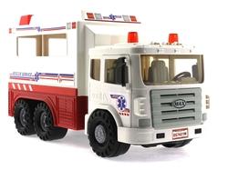 MEGA - Oyuncak Sürtmeli Büyük Ambulans 31 Cm