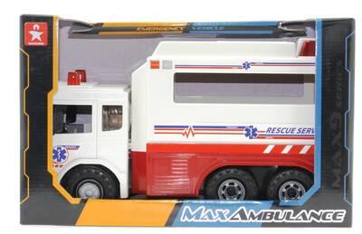 Oyuncak Sürtmeli Büyük Ambulans 31 Cm