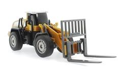 MEGA - Sürtmeli Model Oyuncak İş Makinası Forklift