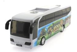 MEGA - Sürtmeli Sesli ve Işıklı Beyaz Dinozor Parkı Otobüsü