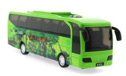 MEGA - Sürtmeli Sesli ve Işıklı Yeşil Dinozor Parkı Otobüsü