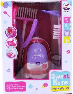 Sweet Home Pembe Elektrik Süpürgeli Temizlik Seti A5925