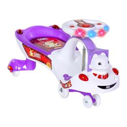 MEGA - Swing Car Tavşan Sesli ve Işıklı Mor-Beyaz