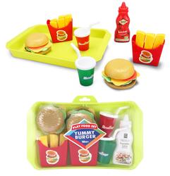 MEGA - Tepsili Oyuncak Hamburger Seti