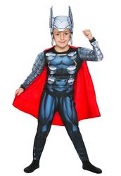 THOR - Thor Pelerinli Kostüm 7-9 Yaş