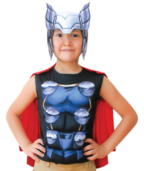 THOR - Thor Pelerinli Üst Kostüm 10-12 Yaş