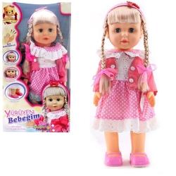 Furkan Toys - Türkçe Konuşan Şarkı Söyleyen Yürüyen Oyuncak Bebek 42 cm