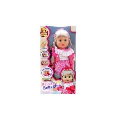 Türkçe Konuşan Şarkı Söyleyen Yürüyen Oyuncak Bebek 42 cm